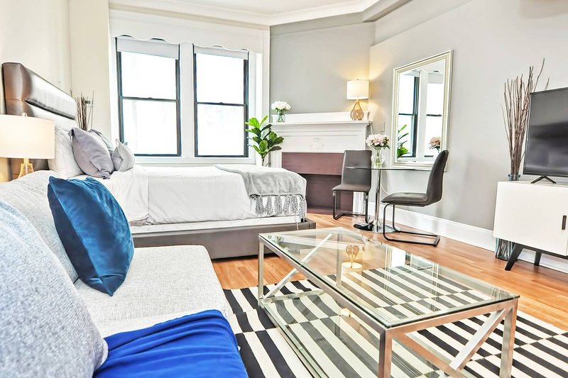Evon - Downtown Boston - Gorgeous Studio Apt Near Subway, alquiler de vacaciones en Boston