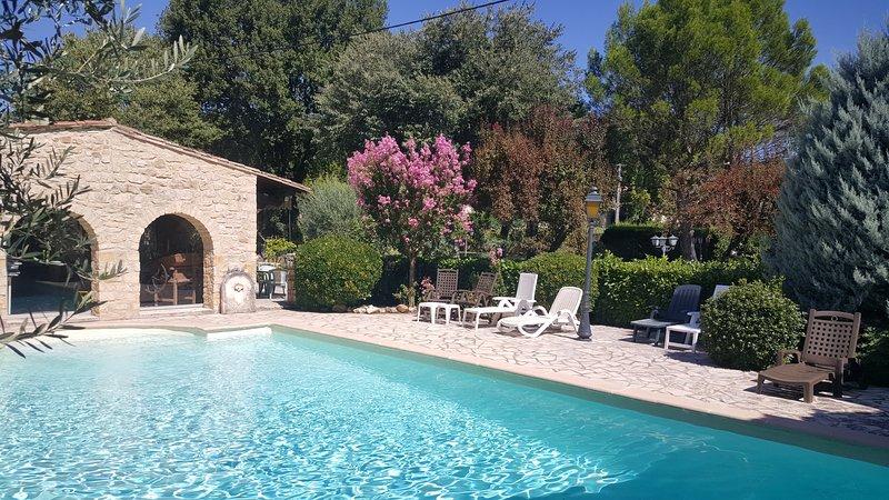 PROMO JUIN Maison de famille de 300 m². Piscine, pool house, parc, climatisation, holiday rental in Cornillon