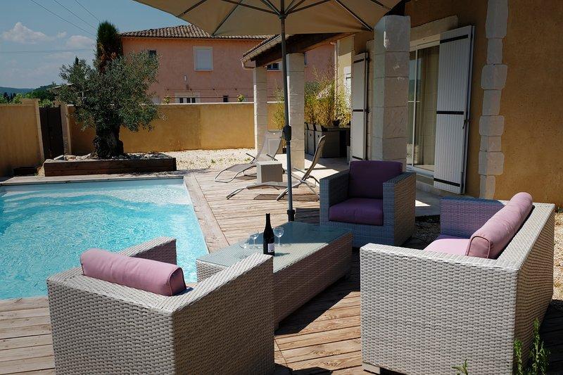 PROMOTION JUIN Maison 3 étoiles  tout confort - Piscine privée et chauffée (V2), holiday rental in Cornillon
