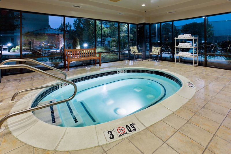 Take a dip in the shared indoor hot tub!