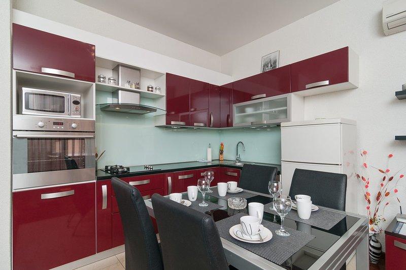 Cocina + sala de estar