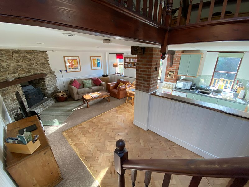 A Very Special 'Schoolhouse' Lee Bay,  Conservation area and ANOB, holiday rental in Lee