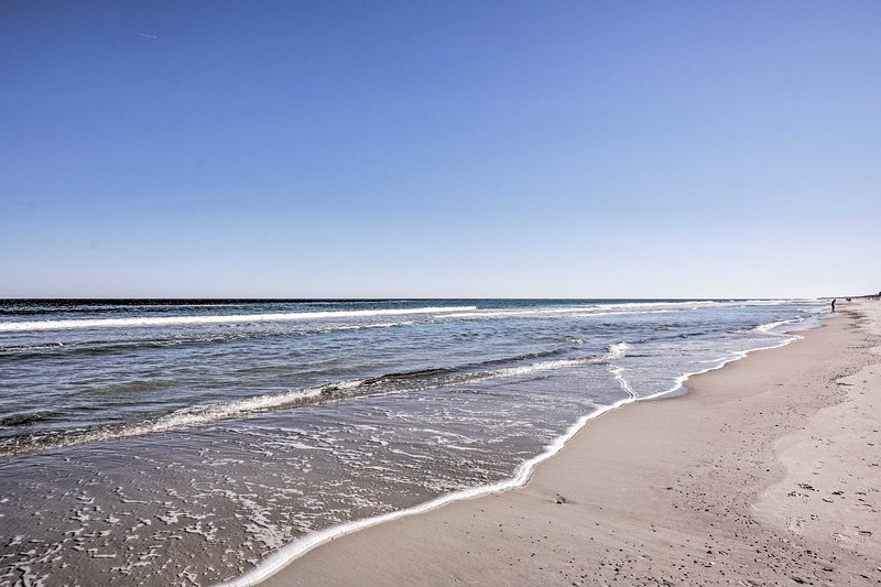 Swim in the Atlantic in just a mile's walk or drive from your vacation rental.