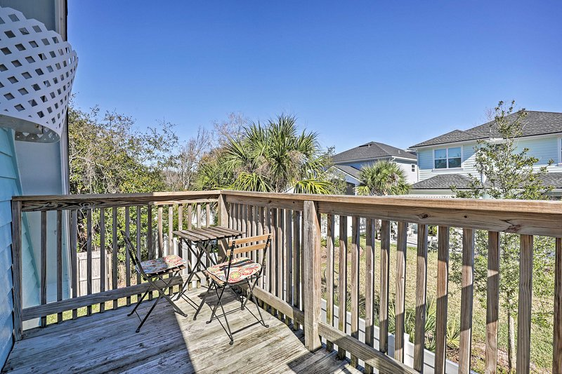 Enjoy coffee, tea, wine, or beer from your vacation rental's private balcony.