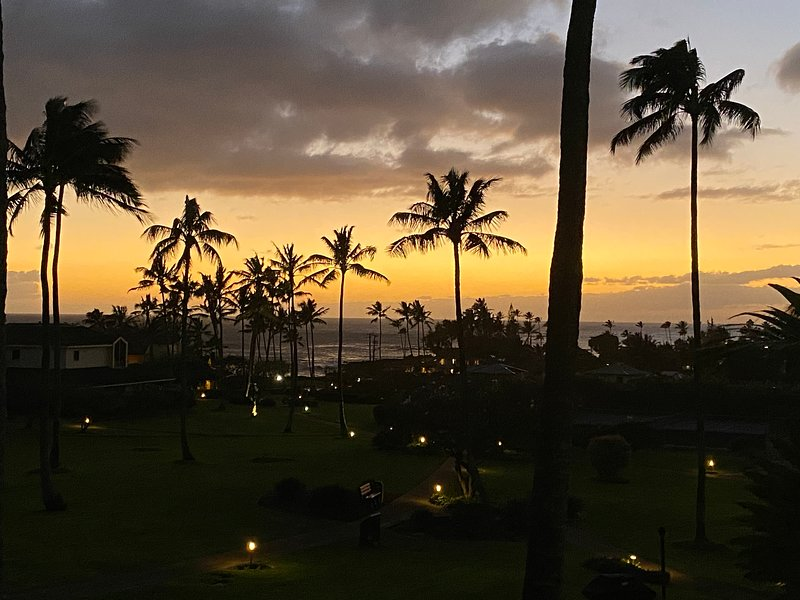 The afterglow from a January sunset taken from the lanai.
