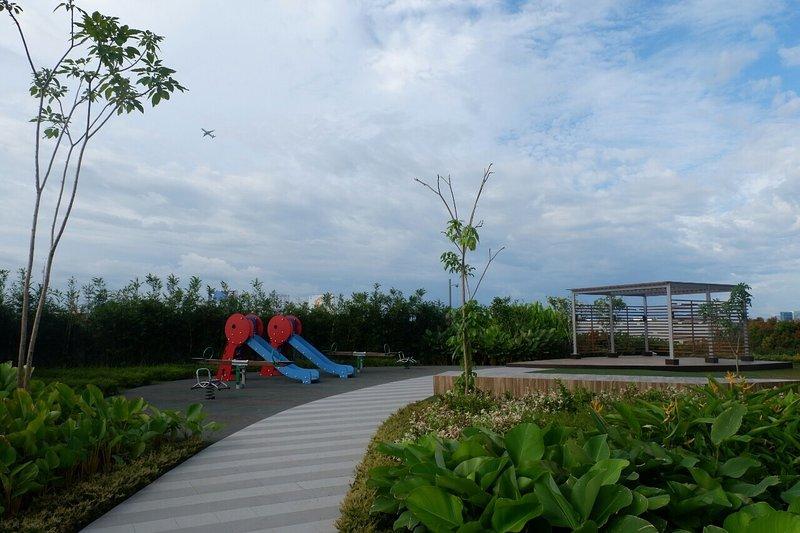 Upper level garden / playground.