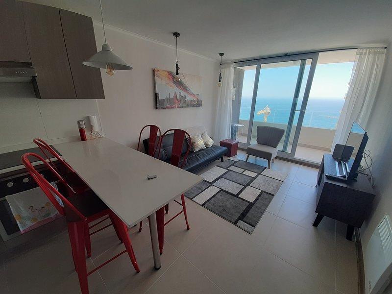 Departamento Costa de montemar, piso 16, vista al mar. 2D1B, vacation rental in Puchuncavi