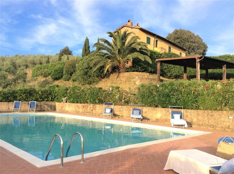 Charming Farm House Apartment - Terra Bianca - Garden - Pool - Authentic Tuscany, alquiler vacacional en Palaia