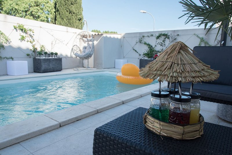 Spacious villa with swimming-pool, holiday rental in Marsillargues