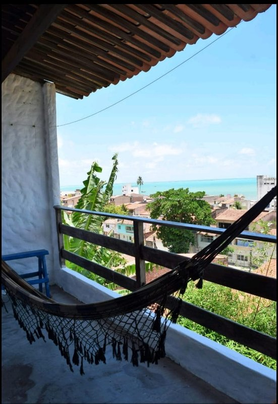 Our balcony overlooking the sea