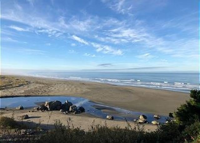 Walk a mile downhill to discover Moonstone Beach & Little River!