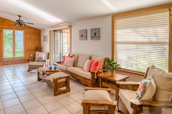 The bungalow is tastefully and comfortably appointed.