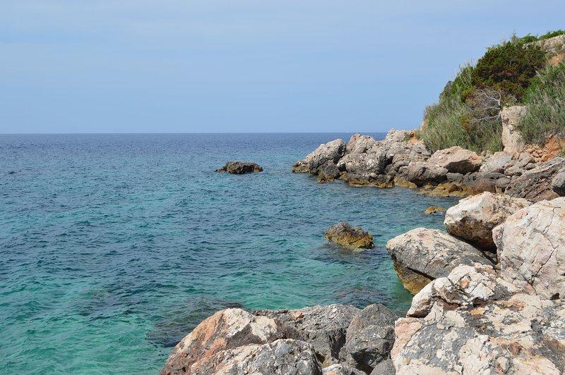 Roca, ocio, aire libre, naturaleza, agua