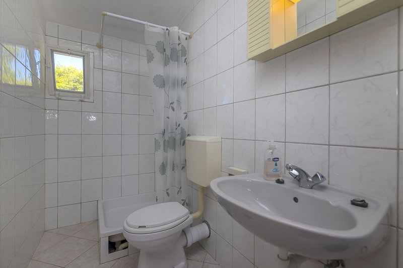 Camera, interna, bagno, lavabo, WC