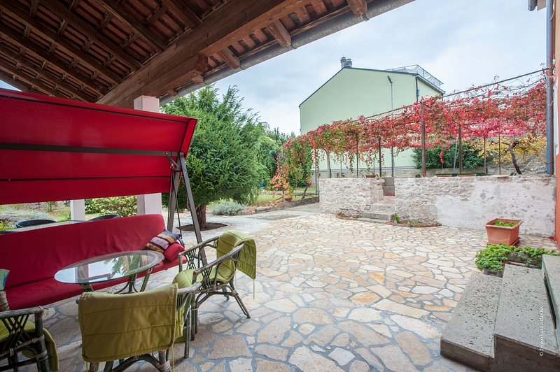 Flagstone,Patio,Chair,Furniture,Porch