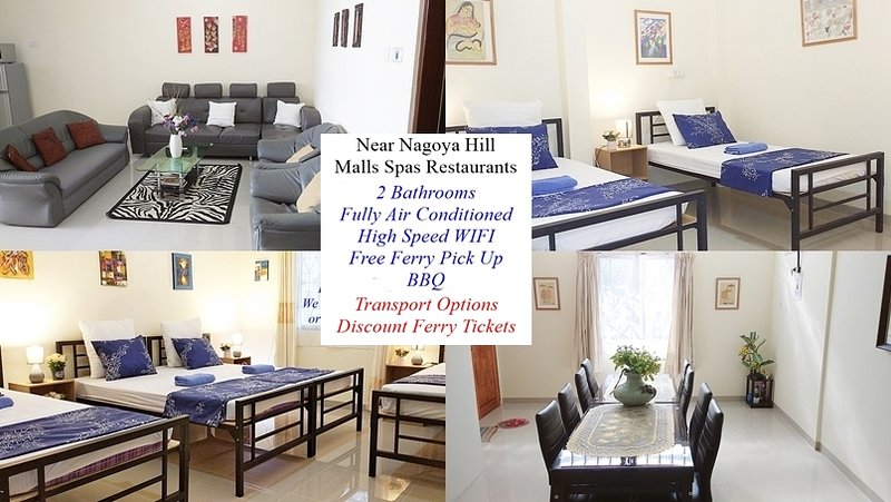 Apt 3 Spacious 3 Bedroom Apartment Near Nagoya Hill Mall, vacation rental in Batam