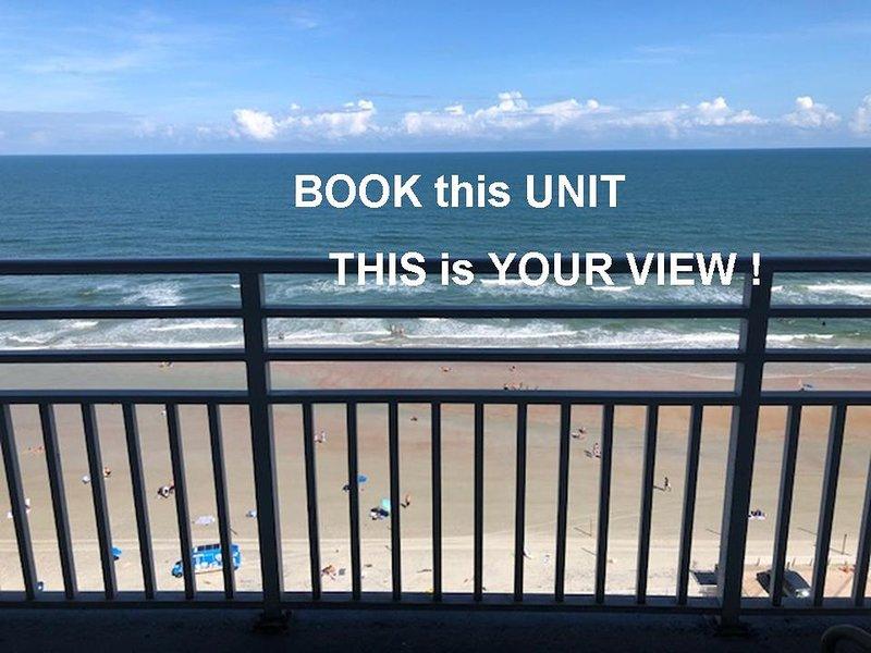 Ocean Walk Resort  1104AB Spectacular Ocean Front Balcony, holiday rental in Holly Hill