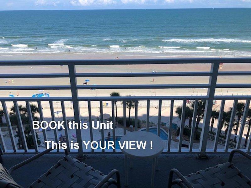 Ocean Walk Resort 908 Beautiful Ocean Front Condo, holiday rental in Holly Hill