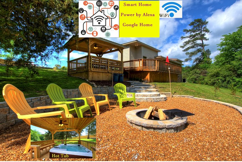 BattleVista Vacation Rental - Hot Tub - Firepit, vakantiewoning in Chickamauga