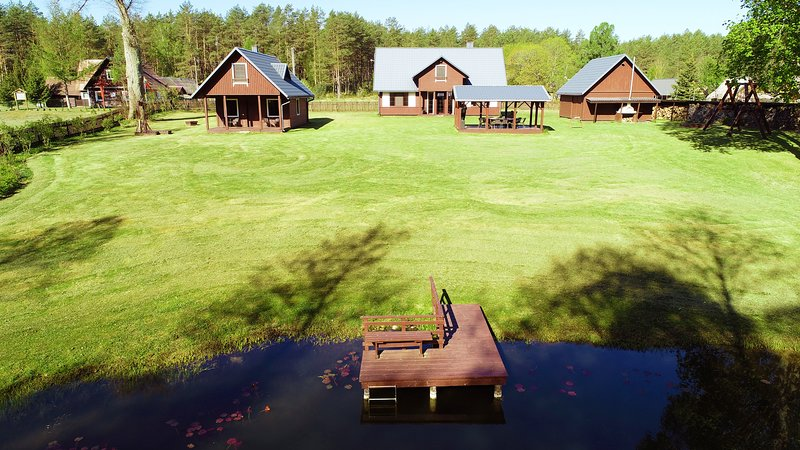 Villa Dzūkijos Uoga -holiday house in forest by water by Druskininkai Lithuania, vacation rental in Alytus County