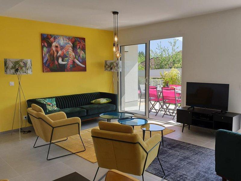 Appartement Jardin  avec Terrasse, location de vacances à Quintal