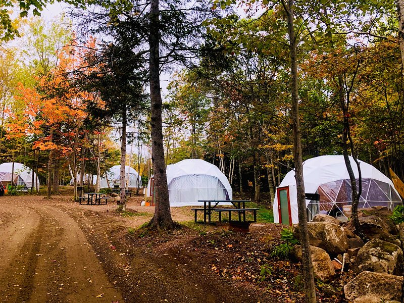 Blue Bayou Resort 2 queen size suite Geodesic Dome Just off the Cabot Trail, aluguéis de temporada em Pleasant Bay