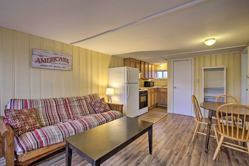 The vacation rental is just across the street from Hampton Beach State Park.