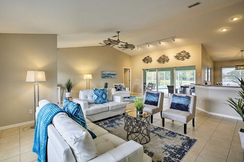 Enjoy bright mornings at this vacation rental.