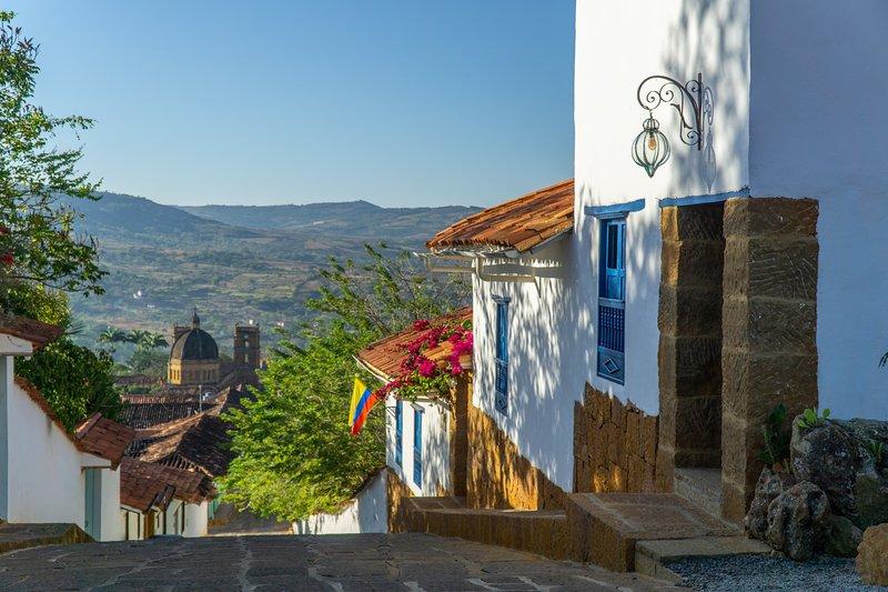 Tocagua 3, la esquina de la calle más linda de Barichara, aluguéis de temporada em Aratoca