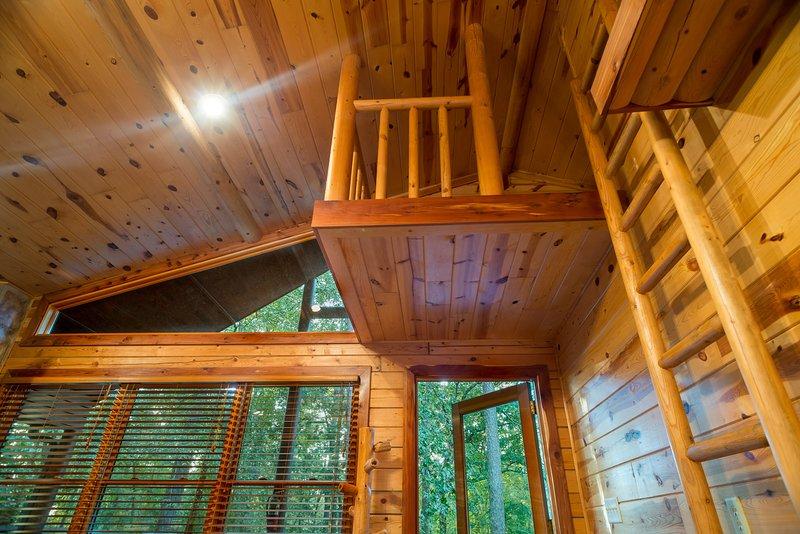 Hardwood, costruzione, casa, Cabin, Portico