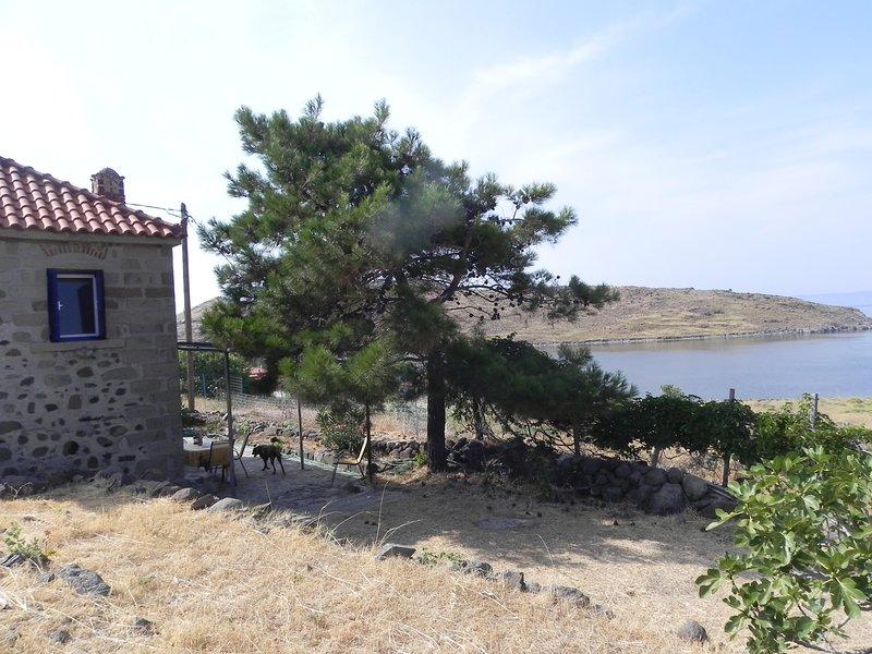 Romantisches Steinhaus in Alleinlage mit Meerblick -   Sea View Cottage, aluguéis de temporada em Sigri
