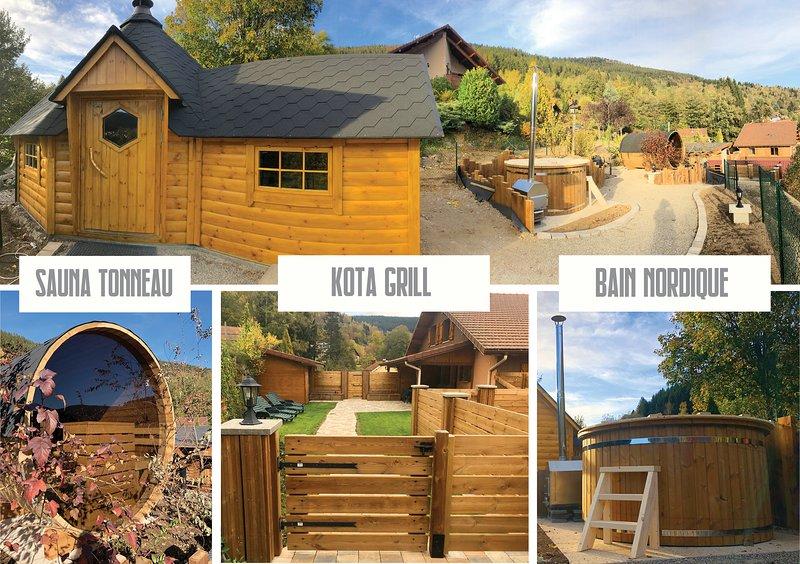 EXPERIENCE NORDIQUE  Kota-Grill,Sauna, Bain nordique, alquiler vacacional en Vosges