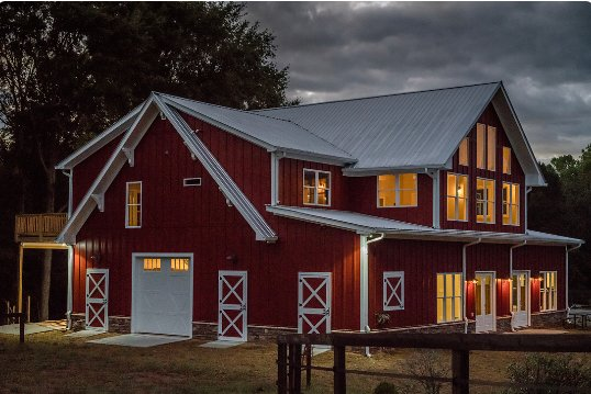 Barndominium for 6 - upscale farm, animal friendly, vacation rental in Hickory Flat
