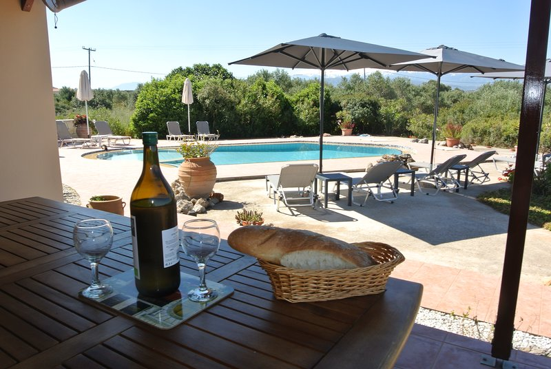 Villa David - Spacious villa, with pool and stunning scenery, location de vacances à Chorafakia
