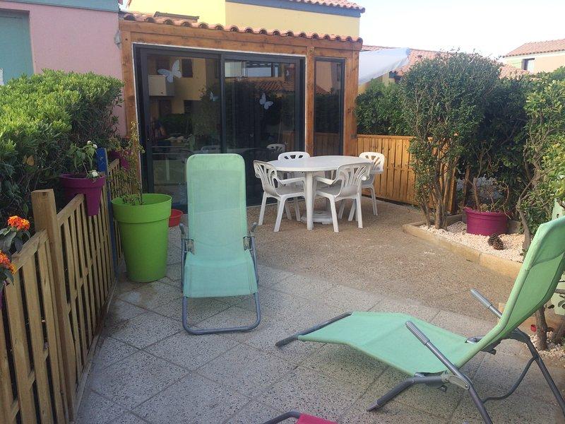 Maissonnette studio à Le Barcarès, casa vacanza a Le Barcares