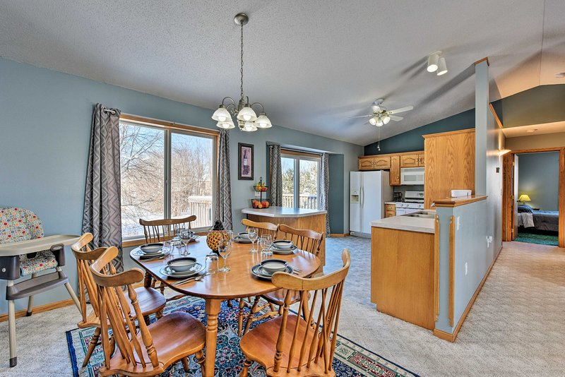 Make lasting family memories in this Waite Park retreat.