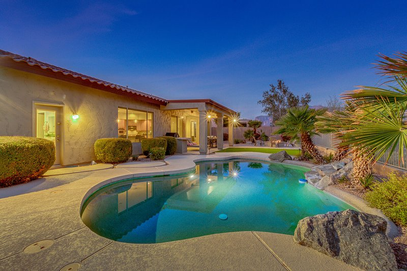 Epic Mountain Views! Massive Gold Canyon Home with Heated Pool and Firepit!, vacation rental in Gold Canyon