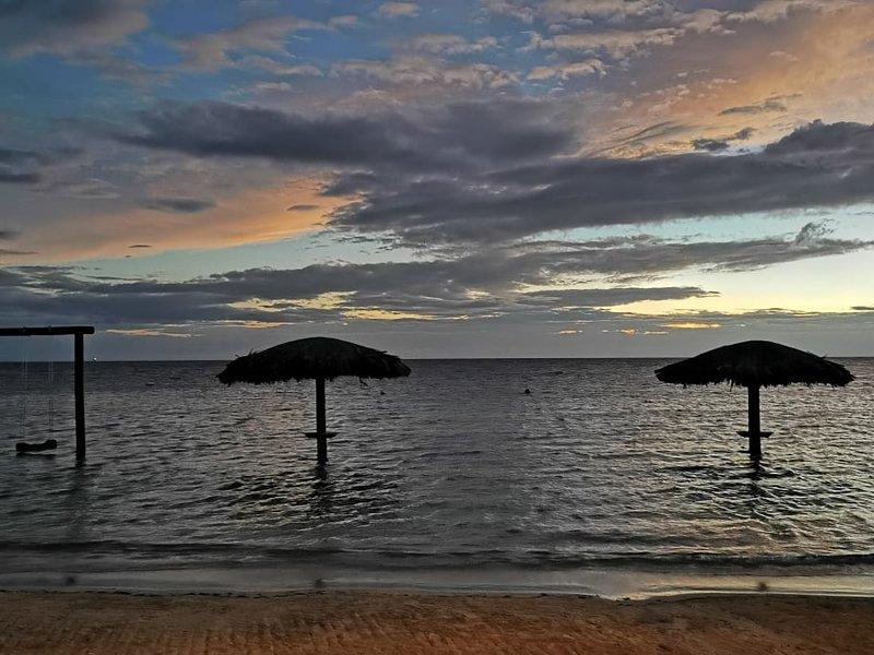 Sunset at Las Palmas Resort and Spa, 10 minutes away