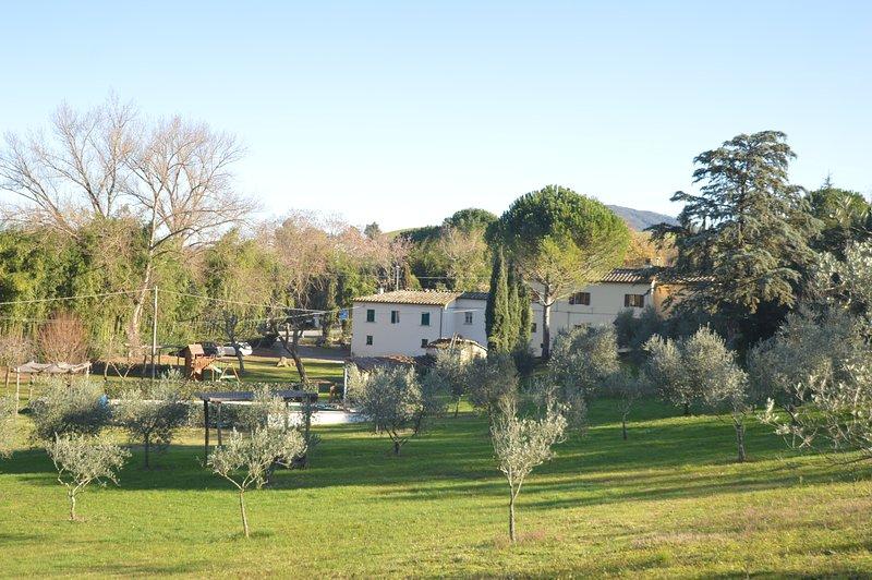 Molino del prato app. Rosso con piscina, casa vacanza a Volterra