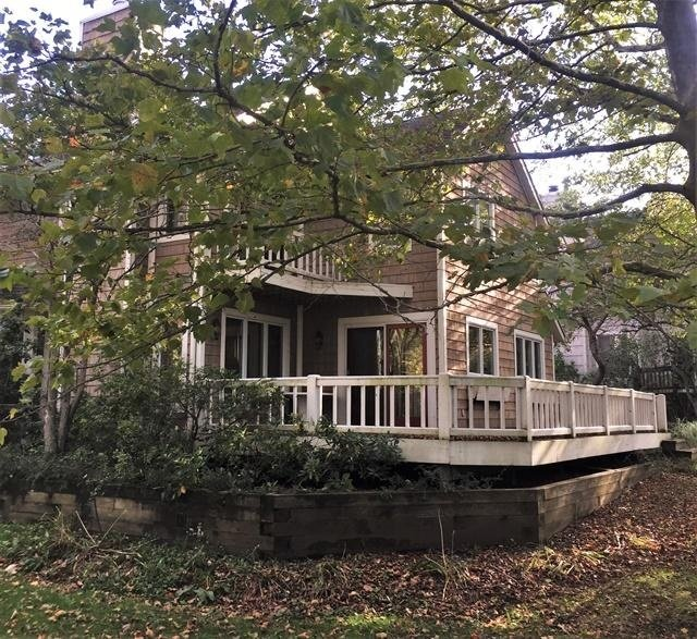 Edificio, casa de campo, casa, porche, al aire libre