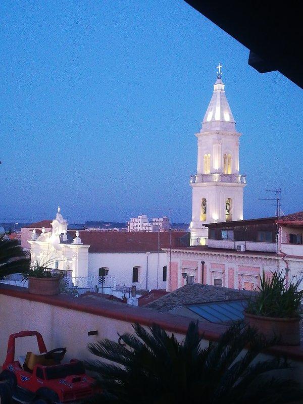 Vista della Chiesa della Madonna del  Monte del Carmelo.