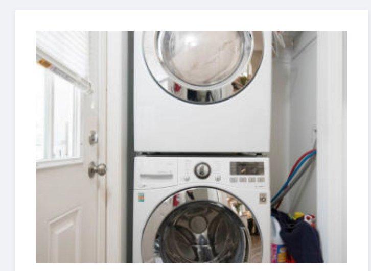 Nuova lavatrice e asciugatrice di grande capacità nell'unità