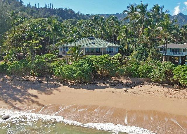 Mystical Moloaa Bay on a white sandy beach. Where the USS MINNOW Shipwrecked., holiday rental in Kauai