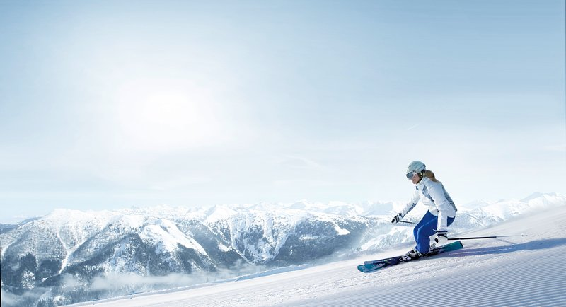 Puro prazer de esquiar