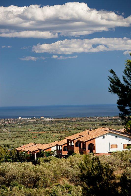 Vista aérea complejo casas rurales Can Prats
