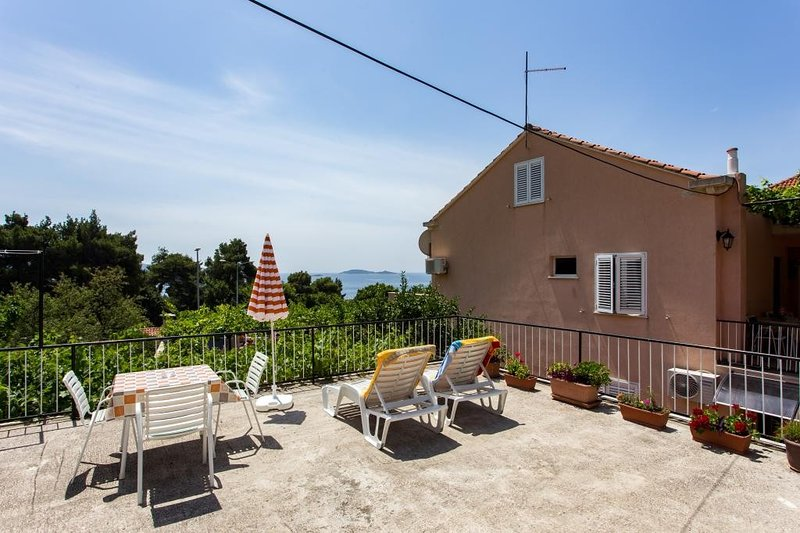Apartment Lise- One Bedroom Apartment with Terrace and Sea View, location de vacances à Srebreno