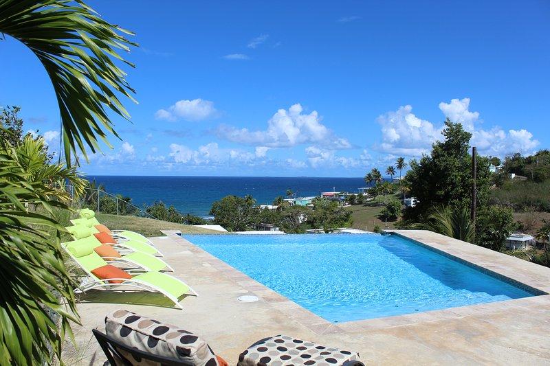 Aqua Blue is a private villa with a fabulous pool and views., alquiler de vacaciones en Isabel Segunda