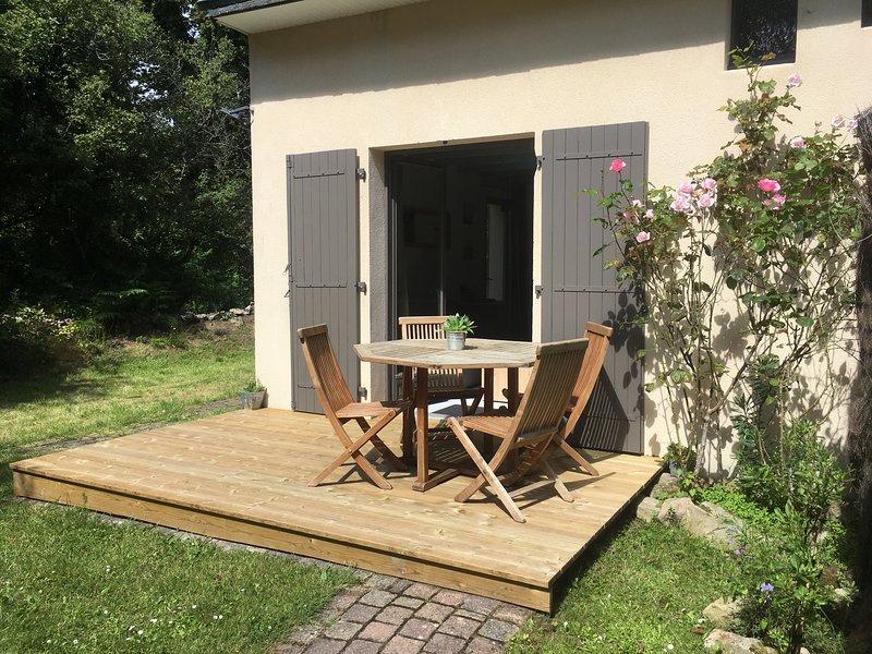 Maison avec jardin clos. Animaux acceptés - Wifi - Proche Carnac Plage, location de vacances à La Trinite-sur-Mer
