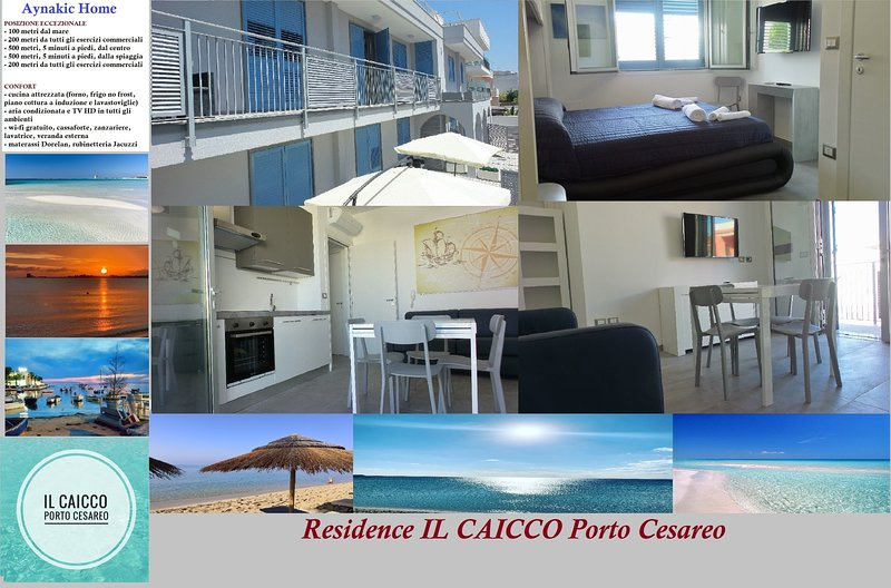 Residence IL CAICCO - Aynakic Place [100 mt mare], location de vacances à Porto Cesareo