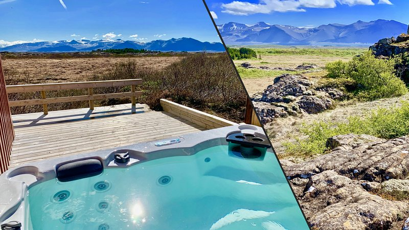 Two Luxury Houses for 16 Guests with HotTubs close to Snæfellsjökull Glacier, holiday rental in Bifrost